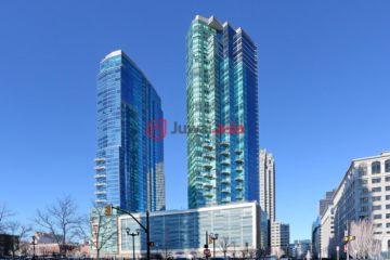 居外网在售美国泽西城2卧2卫的房产总占地113平方米USD 1,499,000